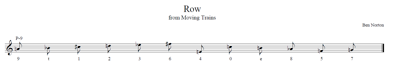 Moving Trains row